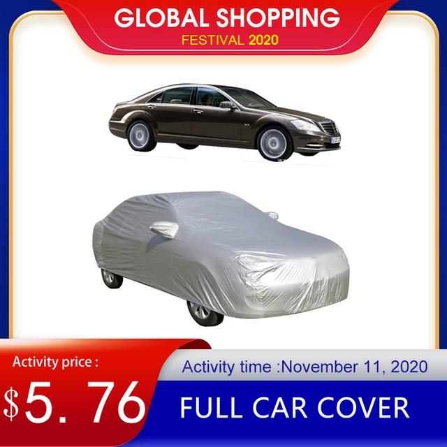 Cubierta completa para coche protector solar para interior y exterior, protección solar contra el calor UV para nieve, a prueba de polvo, Anti UV, resistente a los arañazos, traje Universal para Sedán