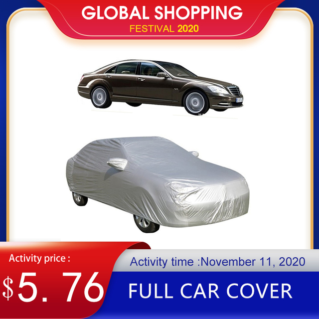 Full Car Cover Indoor Outdoor Sunscreen Heat UV Snow Sun Protection Dustproof Anti UV Scratch Resistant Sedan Universal Suit