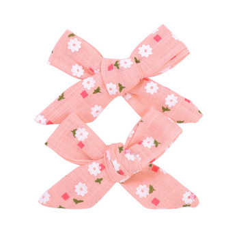 Colorful Bow Hair Clips for Girls 2 pcs Set 5