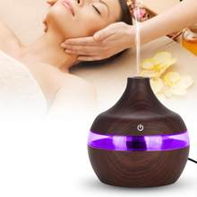 300ml Spa Yoga Luftbefeuchter Elektrische Aroma Air Diffusor Holz Ultraschall-luftbefeuchter Ätherisches öl Aromatherapie Kühlen Nebel Maker