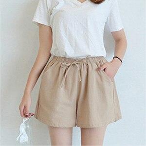 2020 New Women's Shorts Hot Summer Casual Cotton Linen Shorts Plus Size Mid Waist Short Fashion Woman Streetwear Short Pants