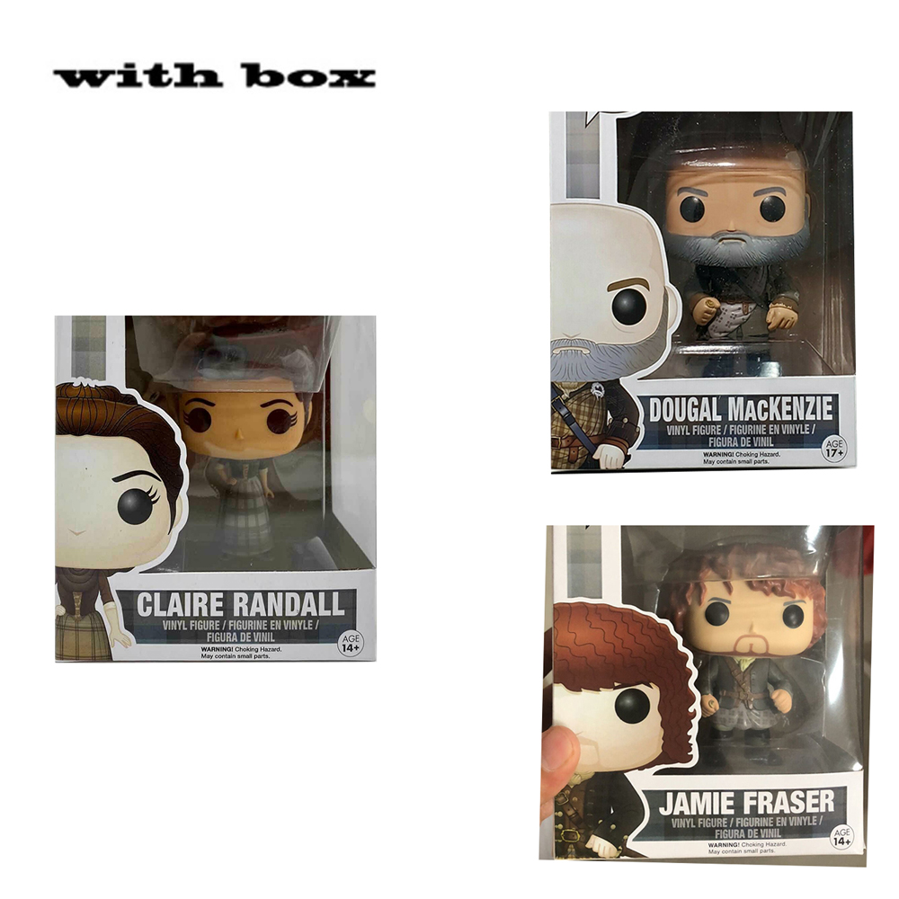 NEW! Outlander 251# Jaime Fraser #252 dougal mackenzie #250 claire randall withbox POP Action Figure  Model Toy with Box