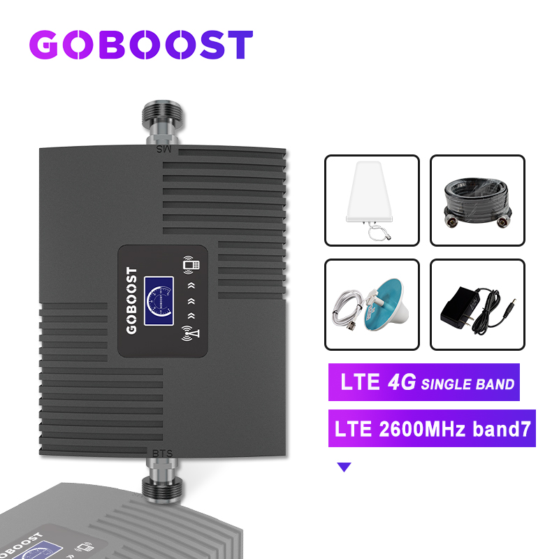Mobile Signal Booster 4G LTE 2600 Cellular Amplifier 4G Repeater LTE Cellular Signal Booster 4G LTE GSM Repeater Kit LCD Display