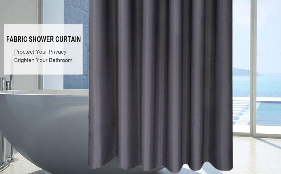 modern fabric shower curtain 48 x 72
