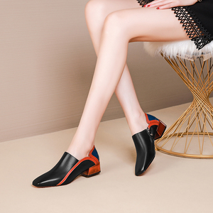 Image 3 - Women flats genuine leather shoes sneakers woman brogues vintage flat casual shoes laces oxford shoes for women 2020 spring