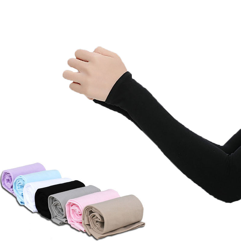 1 Pair Unisex Fingerless Arm Sleeve Summer Sunscreen UV Protection Ice Cool Cycling Running Fishing Climbing Driving Arm Cover
