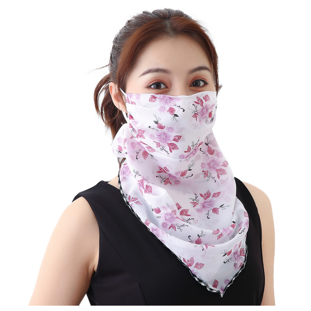 Women's Protective Washable Cotton Scarf Mask 16