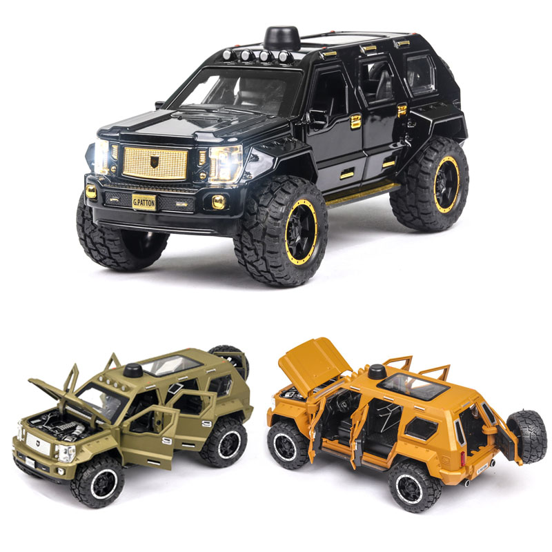 1:24 G.PATTON Car Model Alloy Car Die Cast Toy Car Model Pull Back Children's Toy Collectibles Free Shipping