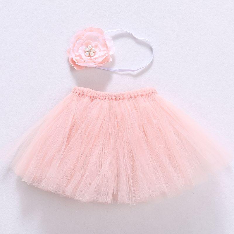 2021 New Cute Toddler Newborn Baby Girl Tutu Skirt & Headband Photo Prop Costume Outfit