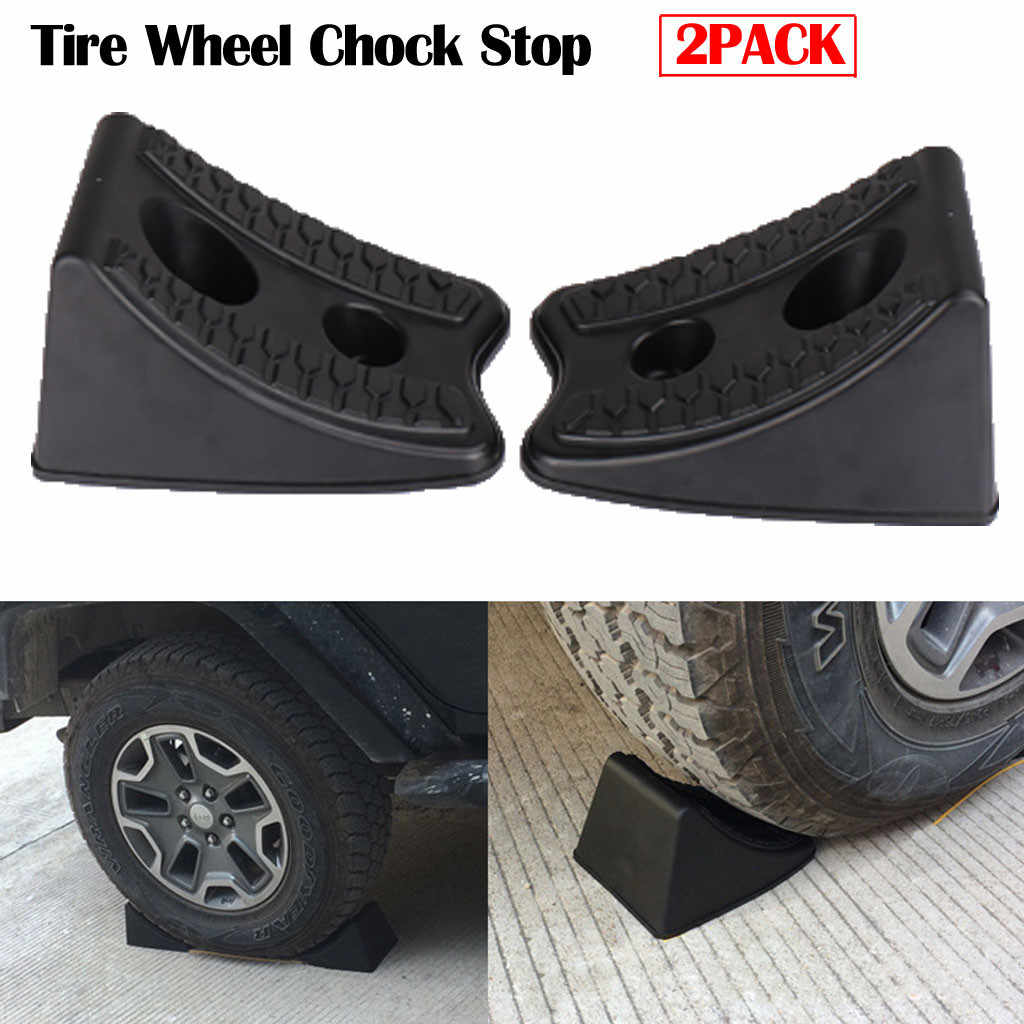 Heavy Duty Tire Wheel Chock Stop RV Boot Trailer Waterscooters Auto/Home Camper ATV Rubber driehoek houten stoppers