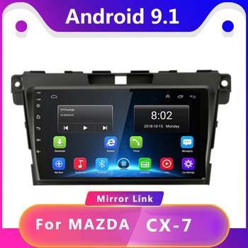Android 9.1Car Radio Multimedia noDVD 2 din Video Player Navigation GPS For Mazda Cx-7 cx7 cx 7 2008 2009 2010 2012 2013-2015 image