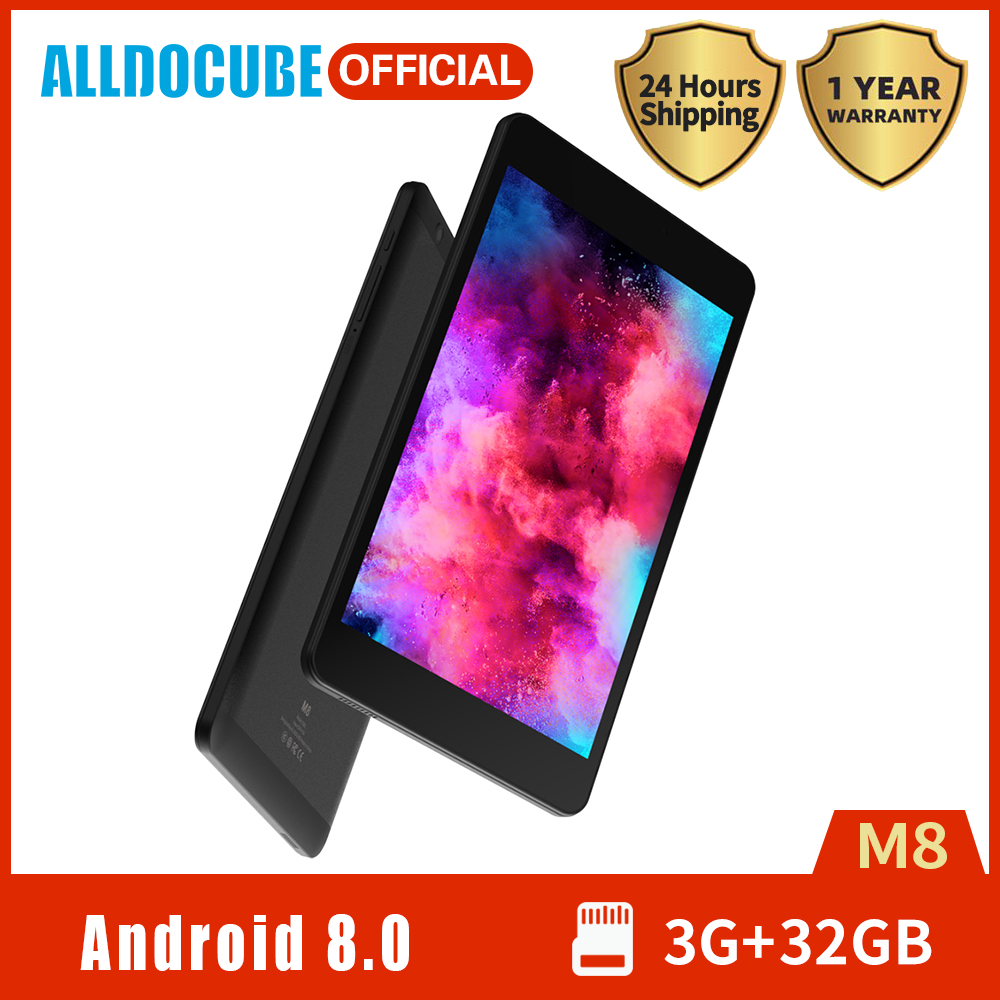 2020 ALLDOCUBE M8 4G Phone Call Tablet 8 Inch IPS Display MTK X27 Deca Core 3GB RAM 32GB ROM Android 8.0 Dual Camera GPS Wifi