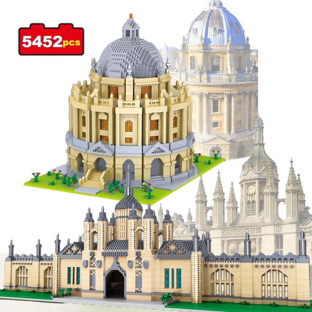 5452pcs World Famous Architecture Building Blocks Cambridge University Oxford Model Landmarks Toys for Kids Educational Bricks