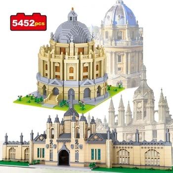 цена на 5452pcs World Famous Architecture Building Blocks Cambridge University Oxford Model Landmarks Toys for Kids Educational Bricks