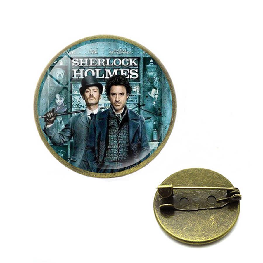 Vintage Sherlock Holmes Benedetto Spilla Spilli Antico di Modo Delle Donne Degli Uomini di Pendenti e Ciondoli Gioielli I Am Sherlocked Distintivo Spille