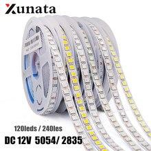 DC12V 5054 2835 Светодиодный светильник 120 светодиодный s/m 240 светодиодный s/m водонепроницаемый гибкий светодиодный ленточный светильник естестве...
