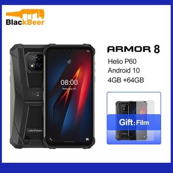 Купить Ulefone Armor 8 Android 10 Мобильный Телефон IP68/IP69k водонепроницаемый уличный смартфон Helio P60 Octa Core 4 Гб 64 Гб 5580 мАч мобильный телефон