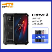Osłona Ulefone 8 Android 10 telefon komórkowy IP68 IP69k wodoodporny zewnętrzny smartfon Helio P60 Octa Core 4GB 64GB 5580mAh telefon komórkowy tanie tanio Nie odpinany CN (pochodzenie) Rozpoznawania linii papilarnych Rozpoznawania twarzy Inne 16MP Nonsupport Smartfony Pojemnościowy ekran