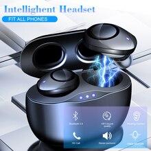 T20 TWS אלחוטי אוזניות עם טעינת תיבת Bluetooth 5.0 אוזניות סטריאו ספורט עמיד למים אוזניות אוזניות עם מיקרופון HD שיחת
