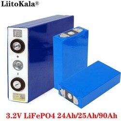 Liitokala 3.2 فولت 24Ah 25Ah 90Ah بطارية حزمة LiFePO4 ليثيوم الحديد فسفا قدرة كبيرة دراجة نارية سيارة كهربائية موتور بطاريات