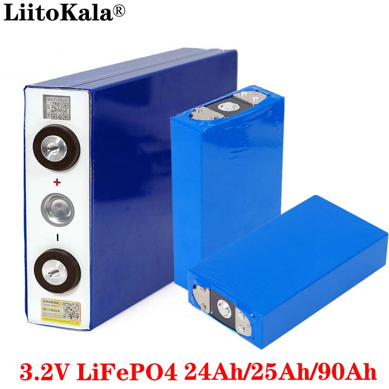Liitokala 3.2V 24Ah 25Ah 90Ah battery pack LiFePO4 Lithium iron phospha Large capacity Motorcycle Electric Car motor batteries