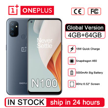 Globalna wersja Oneplus Nord N100 4GB 64GB Smartphone 6.52