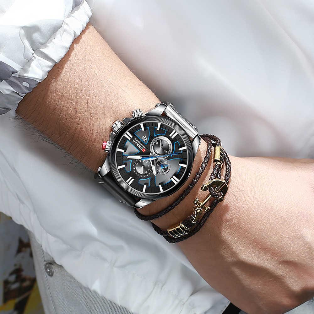 CURREN montre chronographe Sport hommes montres Quartz horloge cuir homme montre-bracelet Relogio Masculino mode cadeau pour hommes