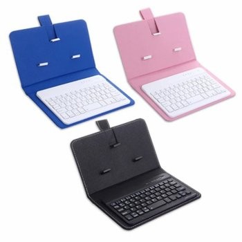 Phone Bluetooth Keyboard Case Leather Stand Cover For 4.5-6.8Inch iPhone / Android Phone