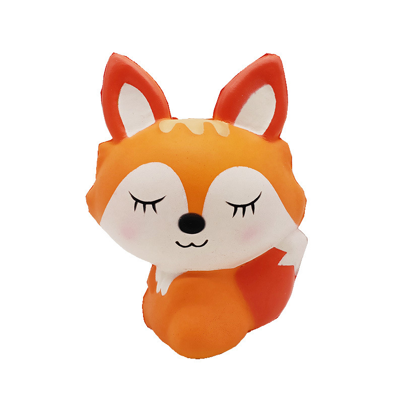 Kawaii Lovely Fox Squishy Slow Rising Cream Scented Stress Relief Squeeze Toys For Children Kids Adult Antistress Squishies