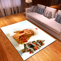 Christmas elk sled living room kitchen carpet to map custom Amazon for texture mat skid pads