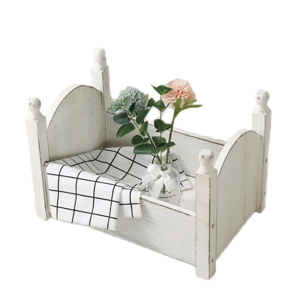 Baby Small Photography Bed Photo Studio Photography Props Newborn Small Wooden Crib For Baby Boys Girls