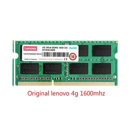 Lenovo d'origine pour lenovo ThinkPad ordinateur portable 4G mémoire DDR3 1600MHz 1600MHz SODIMM 4GB mémoire
