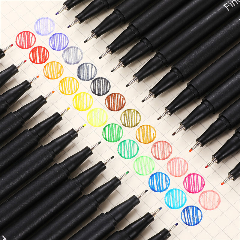 24 Colors Colorful 0.38mm Neutral Gel Pen Markers Fineliner Pens For School Office Pen Set Kawaii Ink Pen Art Supplies 04031