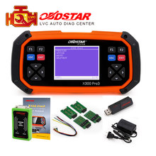 Obdstar x300 pro3 chave mestre obdii x300 obd2 programador chave ferramenta de correção odômetro eeprom/pic atualização online