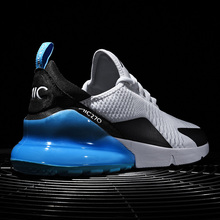 New Arrival Air Cushion Men Sneakers High Tech Damping Flyknit Breathable Men Casual