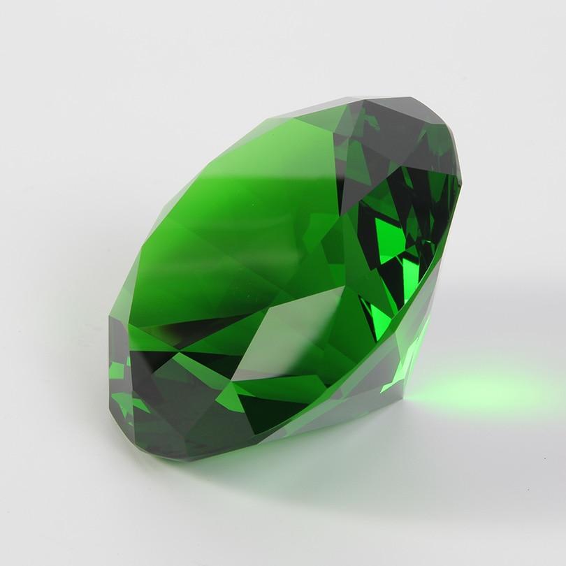 Цветные вечерние украшения из большого стекла с бриллиантами, большие бриллианты, романтическое предложение, украшения для дома, вечерние рождественские подарки - Цвет: Green