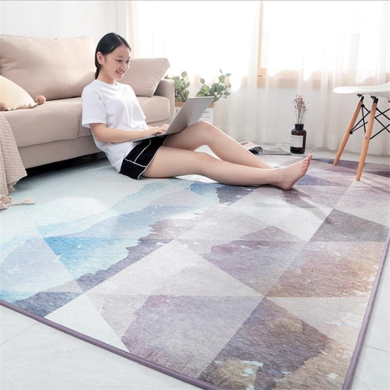 Tapis pour salon moderne minimaliste Chenille lisse et souple tapis chambre tapis tapis enfants chambre tapis de sol