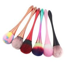 1 Pc Nail Dust Cleaning Brush Soft Glitter Remover Blending UV Gel Poeder Removal Acryil Borstels Makeup