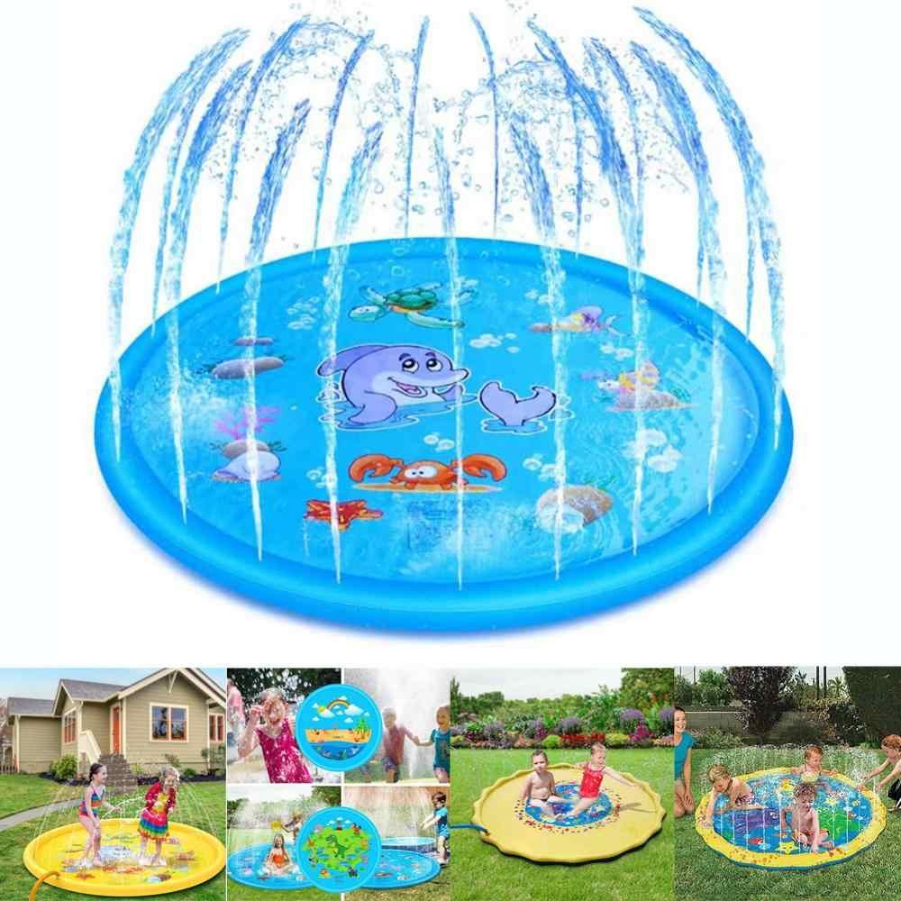 Sprinkler Splash Pad, 68inch Water Splash Play Mat Toddler Water ...