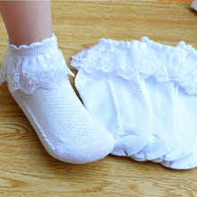 2 pairs children lace socks girl solid color cotton spring autumn summer mesh sock short baby dance socks,