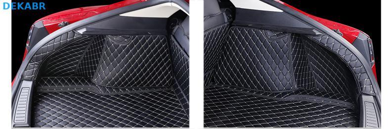 Автомобильный коврик багажника грузовой лайнер задняя крышка Водонепроницаемая накладка протектор для 2014 2019 Tesla модель S интерьерные аксес... - 4