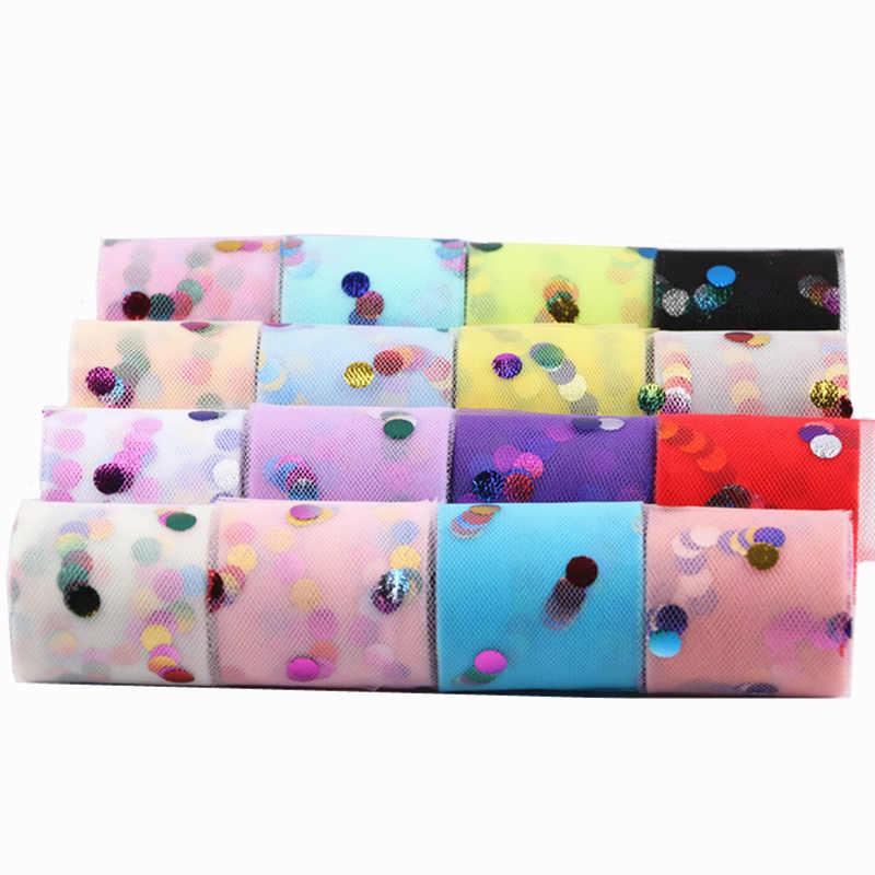 חדש 10 חצרות/רול 5cm צבע רקיק טול רול חתונה קישוט טול בד טוטו שמלת DIY אורגנזה תינוק מקלחת ספקי צד