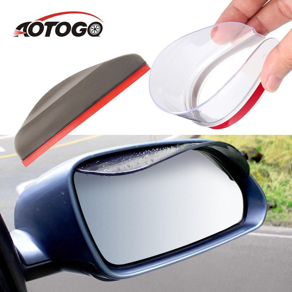 2 pièces étanche voiture côté miroir pare-soleil pluie sourcil Auto voiture vue arrière côté pluie bouclier Flexible protecteur pour voiture