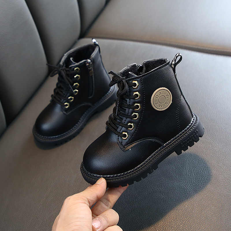 2020 cuero genuino niños Martin botas niños nieve zapatos