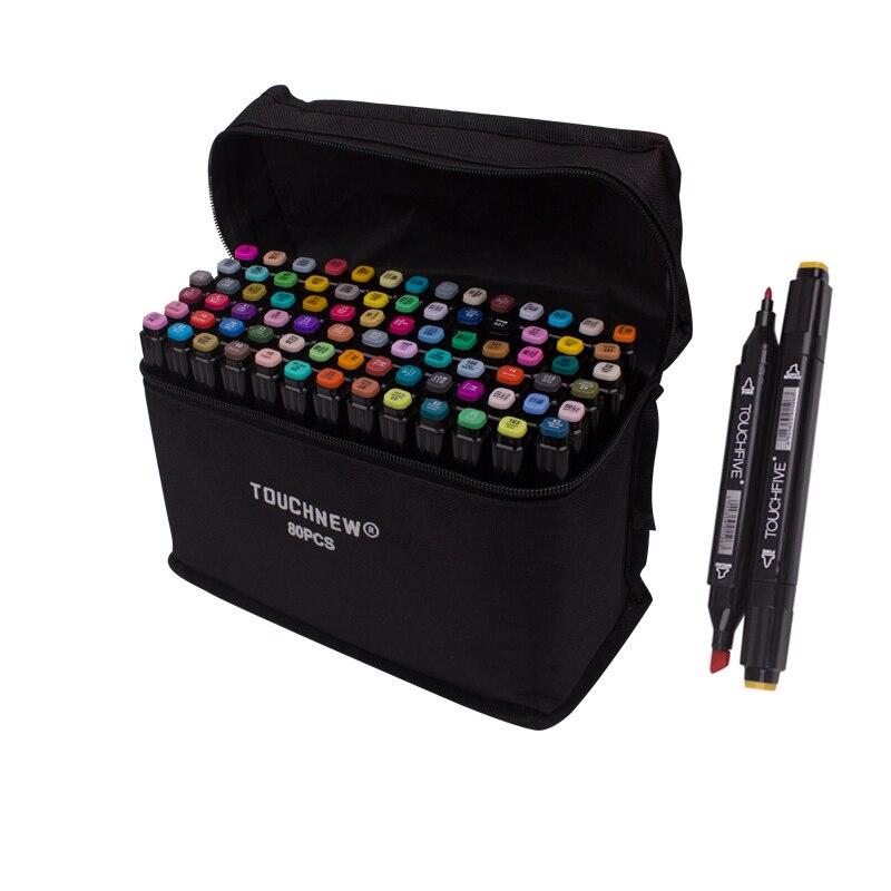 TouchFive resim kalemi seti 30/40/80/168 renkler alkol bazlı İşaretleyiciler manga eskiz çizim işaretleyici kalem çift başlı kalem ucu