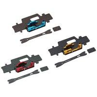 Placa de chasis de fibra de carbono con compartimento de batería, piezas de mejora aptas para WLtoys K989 RC, coche de carreras