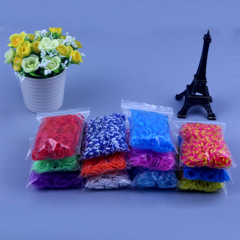 Loom Rubber Bands Toys For Children DIY Lacing Bracelets Necklace Girl Gift Handmake Loom Band Crafts Toy New Wholesale