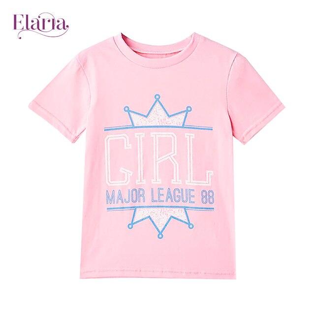 Футболки Elaria для девочки розовый Tsg-02-1