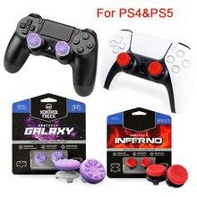 Dla ps5 playstation 5 nakładki na przyciski dla kontrolera PS4 FPS Joystick pokrywy przedłużacze czapki dla PlayStation 4 ps4 akcesoria