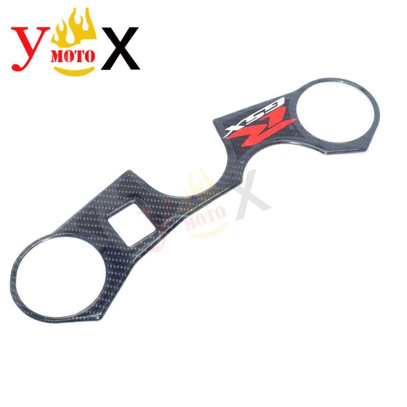 Carbon Triple Tree Top Clamp Decal Pad Sticker Fit For Suzuki GSXR1000 07-08 k7